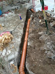 Long Run Of Drainage Pipe